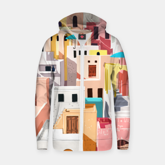 Thumbnail image of Pastel Cityscape Zip up hoodie, Live Heroes