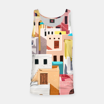 Thumbnail image of Pastel Cityscape Tank Top, Live Heroes