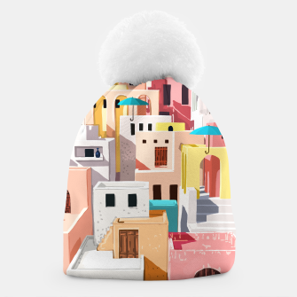 Thumbnail image of Pastel Cityscape Beanie, Live Heroes