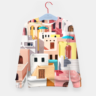 Thumbnail image of Pastel Cityscape Kid's sweater, Live Heroes