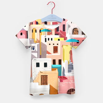Thumbnail image of Pastel Cityscape Kid's t-shirt, Live Heroes
