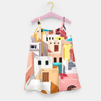Thumbnail image of Pastel Cityscape Girl's dress, Live Heroes
