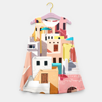 Thumbnail image of Pastel Cityscape Girl's summer dress, Live Heroes