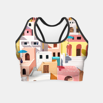 Thumbnail image of Pastel Cityscape Crop Top, Live Heroes