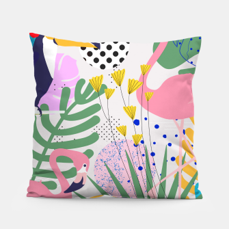 Thumbnail image of Tropical Spring  Pillow, Live Heroes