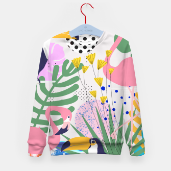 Thumbnail image of Tropical Spring  Kid's sweater, Live Heroes