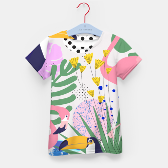 Thumbnail image of Tropical Spring  Kid's t-shirt, Live Heroes