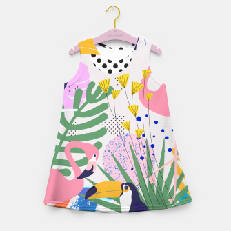 Thumbnail image of Tropical Spring  Girl's summer dress, Live Heroes