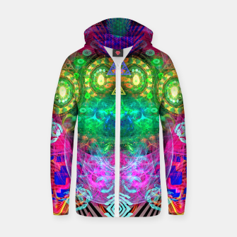 Thumbnail image of Psychotropic Party (Blush) Zip up hoodie, Live Heroes