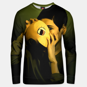 Thumbnail image of Self-portrait of a mask Unisex sweater, Live Heroes