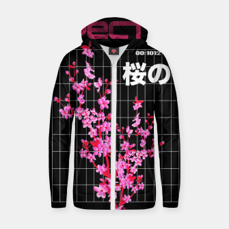 Thumbnail image of Vaporwave Flowers Pattern Urban Style  Sudadera con capucha y cremallera , Live Heroes