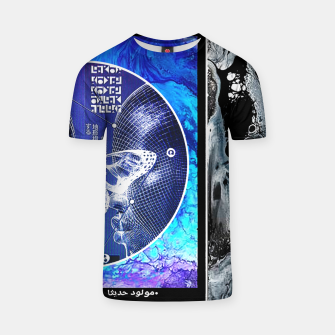 Thumbnail image of Vaporwave Butterfly Geometry Graphic Design Camiseta, Live Heroes
