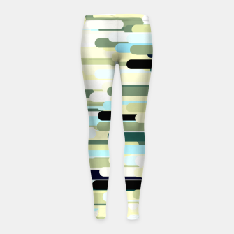 Miniature de image de Floating bars, abstract geometric print, levitating pieces background in blue green colors Girl's leggings, Live Heroes