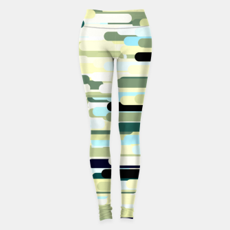 Miniature de image de Floating bars, abstract geometric print, levitating pieces background in blue green colors Leggings, Live Heroes
