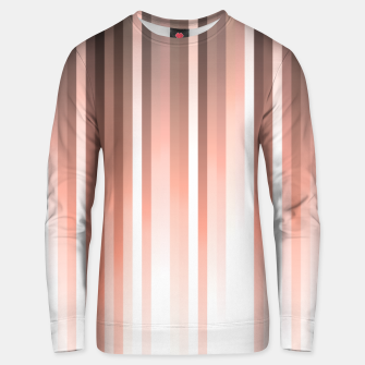 Thumbnail image of Aurora, coral pink vertical lines, pastel colours of the first rays sun light Unisex sweater, Live Heroes