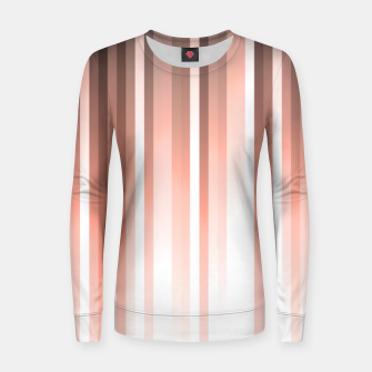 Thumbnail image of Aurora, coral pink vertical lines, pastel colours of the first rays sun light Women sweater, Live Heroes