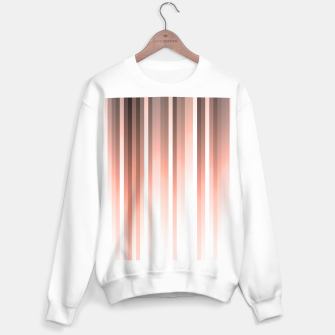 Thumbnail image of Aurora, coral pink vertical lines, pastel colours of the first rays sun light Sweater regular, Live Heroes
