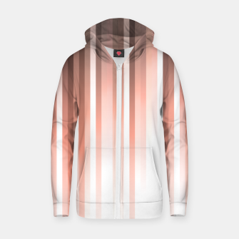 Thumbnail image of Aurora, coral pink vertical lines, pastel colours of the first rays sun light Zip up hoodie, Live Heroes