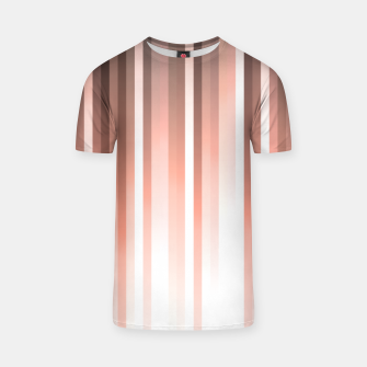 Thumbnail image of Aurora, coral pink vertical lines, pastel colours of the first rays sun light T-shirt, Live Heroes
