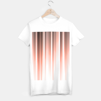 Thumbnail image of Aurora, coral pink vertical lines, pastel colours of the first rays sun light T-shirt regular, Live Heroes