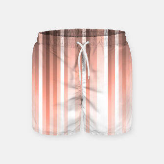 Thumbnail image of Aurora, coral pink vertical lines, pastel colours of the first rays sun light Swim Shorts, Live Heroes
