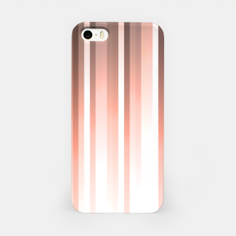 Thumbnail image of Aurora, coral pink vertical lines, pastel colours of the first rays sun light iPhone Case, Live Heroes