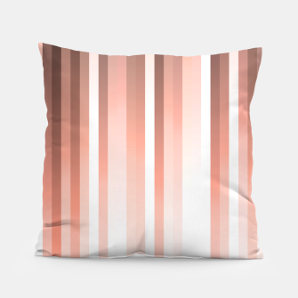 Thumbnail image of Aurora, coral pink vertical lines, pastel colours of the first rays sun light Pillow, Live Heroes