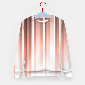 Thumbnail image of Aurora, coral pink vertical lines, pastel colours of the first rays sun light Kid's sweater, Live Heroes