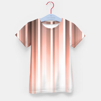 Thumbnail image of Aurora, coral pink vertical lines, pastel colours of the first rays sun light Kid's t-shirt, Live Heroes