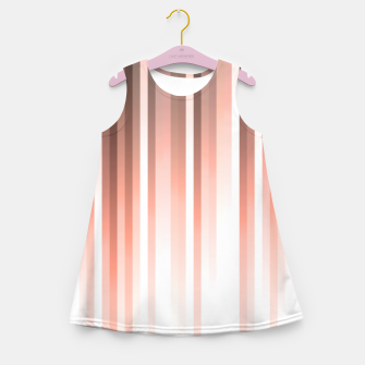 Thumbnail image of Aurora, coral pink vertical lines, pastel colours of the first rays sun light Girl's summer dress, Live Heroes