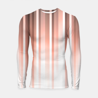 Thumbnail image of Aurora, coral pink vertical lines, pastel colours of the first rays sun light Longsleeve rashguard , Live Heroes