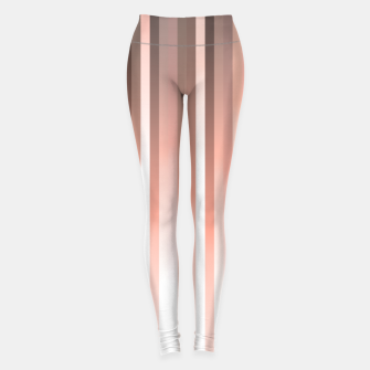 Thumbnail image of Aurora, coral pink vertical lines, pastel colours of the first rays sun light Leggings, Live Heroes