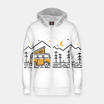 Thumbnail image of Adventure Car for light Zip up hoodie, Live Heroes