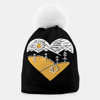 Thumbnail image of Camp Lover for dark Beanie, Live Heroes