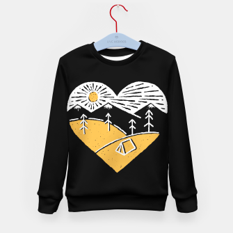 Thumbnail image of Camp Lover for dark Kid's sweater, Live Heroes
