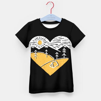 Thumbnail image of Camp Lover for dark Kid's t-shirt, Live Heroes