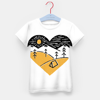 Thumbnail image of Camp Lover for light Kid's t-shirt, Live Heroes
