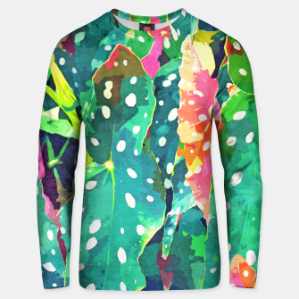Thumbnail image of Polka Dots Tropical Plant Unisex sweater, Live Heroes