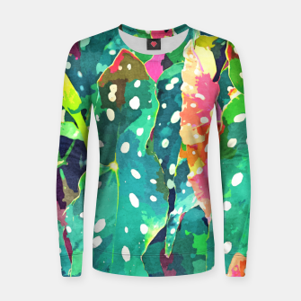 Thumbnail image of Polka Dots Tropical Plant Women sweater, Live Heroes