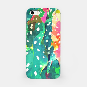 Thumbnail image of Polka Dots Tropical Plant iPhone Case, Live Heroes