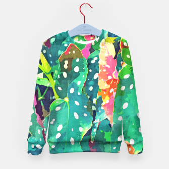 Thumbnail image of Polka Dots Tropical Plant Kid's sweater, Live Heroes