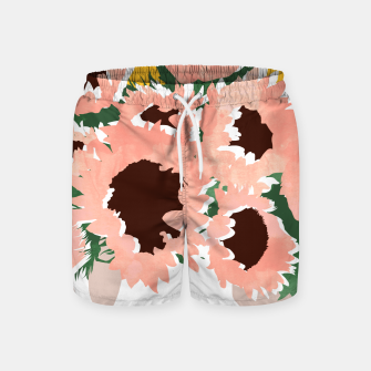 Thumbnail image of Sunshine On a Cloudy Day Swim Shorts, Live Heroes
