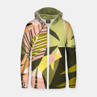 Thumbnail image of A Flower Blooms Best in a Happy Pot Zip up hoodie, Live Heroes