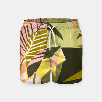 Thumbnail image of A Flower Blooms Best in a Happy Pot Swim Shorts, Live Heroes