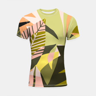 Thumbnail image of A Flower Blooms Best in a Happy Pot Shortsleeve rashguard, Live Heroes