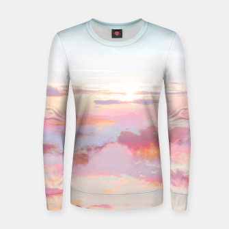Thumbnail image of Blush Clouds Women sweater, Live Heroes