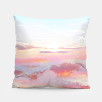Thumbnail image of Blush Clouds Pillow, Live Heroes