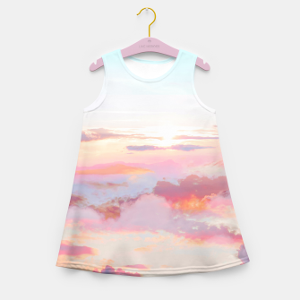 Thumbnail image of Blush Clouds Girl's summer dress, Live Heroes