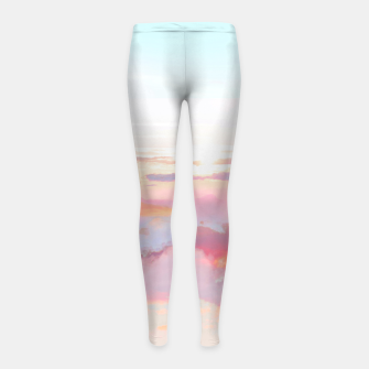 Thumbnail image of Blush Clouds Girl's leggings, Live Heroes