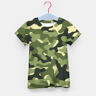 Thumbnail image of Green Camouflage Kid's t-shirt, Live Heroes